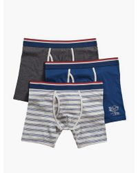 Lucky Brand - 3 Pack Stretch Boxer Brief - Lyst