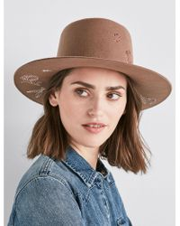 Lucky Brand - Floral Embroidered Wool Hat - Lyst