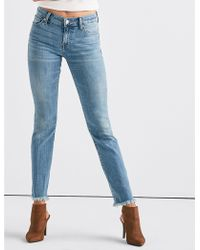 Lucky Brand - Ava Mid Rise Straight Jean With Vent - Lyst