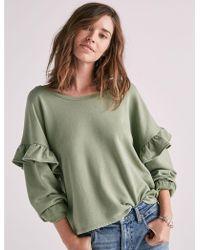 Lucky Brand - Ruffle Sweatshirt - Lyst