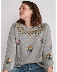 Lucky Brand - Floral Garden Sweatshirt - Lyst