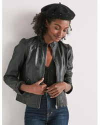 Lucky Brand - Puff Sleeve Leather Jacket - Lyst