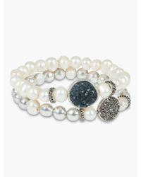 Lucky Brand - Druzy Bead Pearl Bracelets - Lyst