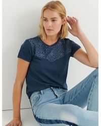 Lucky Brand - Embroidered Bandana Tee - Lyst