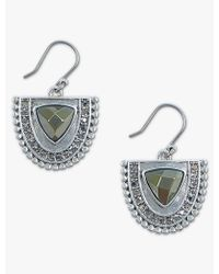Lucky Brand - Half Circle Pave Drops - Lyst
