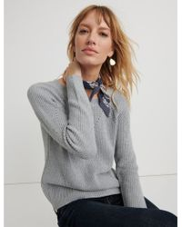 Lucky Brand - Crew Neck Pointelle Sweater - Lyst