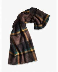 Lucky Brand - Brushed Plaid Scarf - Lyst