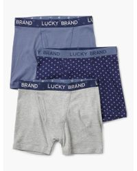 Lucky Brand - 3 Pack Boxer Brief - Lyst