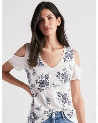 Lucky Brand - Floral Embroidered Tee - Lyst