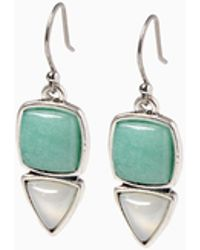 Lucky Brand - Set Stone Earring - Lyst