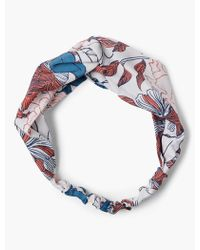 Lucky Brand - Exploded Floral Twisted Headscarf - Lyst