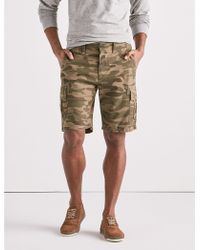 Lyst shop mens lucky brand shorts from 20 lucky brand reverse sateen cargo short lyst malvernweather Gallery