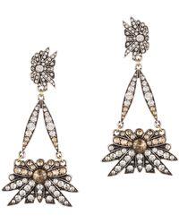 Lulu Frost | Larkspur Drop Earring- Silver | Lyst