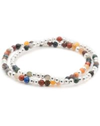 George Frost - Essaouira Sterling Silver And Multi-stone Bracelet Set - Lyst