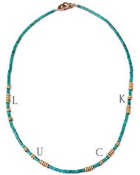 Lulu Frost - George Frost Morse Code Turquoise Necklace - Luck - Lyst