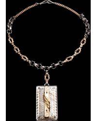 Lulu Frost - Fine Vintage Pendant Necklace - Rectangle Drop - Lyst