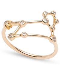 Lulu Frost - Zodiacs 14k & Diamond Leo + Fire Ring - Lyst