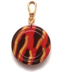 Lulu Frost - Vintage Celluloid Red Zebra Button Charm - Lyst