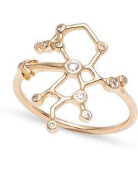 Lulu Frost - Zodiacs 14k & Diamond Sagittarius + Fire Ring - Lyst
