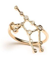 Lulu Frost - Zodiacs 14k & Diamond Virgo + Earth Ring - Lyst