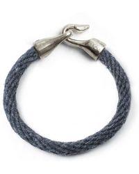 Lulu Frost - George Frost Harpoon Bracelet - Navy & White Bronze - Lyst