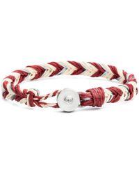 Lulu Frost - George Frost Woven Reflective Bracelet - Red - Lyst