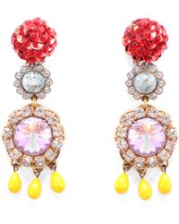 Lulu Frost - Vintage Sequined Passage Clip On Earrings - Lyst