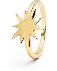 Lulu Frost - Code Star Ring 14k Gold - Lyst