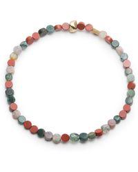 George Frost - Morse Code Jasper Mix Bracelet - Love - Lyst
