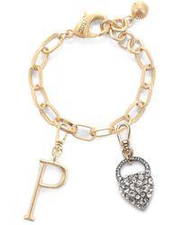 Lulu Frost - Plaza Nina Heart & Small Letter Charm Bracelet - Lyst