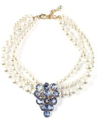 Lulu Frost - Vintage Pearl Collage Necklace 9 - Lyst