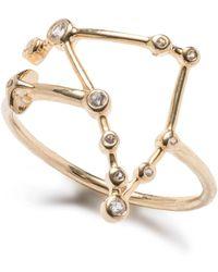Lulu Frost - Zodiacs 14k & Diamond Capricorn + Earth Ring - Lyst