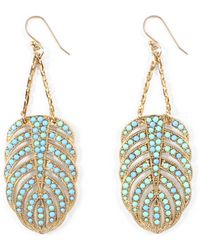 Lulu Frost - Hibiscus Earrings - Turquoise - Lyst