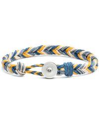 Lulu Frost - George Frost Woven Reflective Bracelet - Blue & Yellow - Lyst