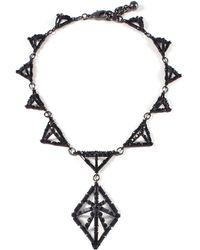 Lulu Frost - Helena Black Necklace - Lyst