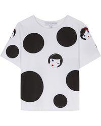 Lulu Guinness - Polka Doll Face Tara T-shirt - Lyst