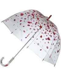 Lulu Guinness - Raining Lips Birdcage Umbrella - Lyst