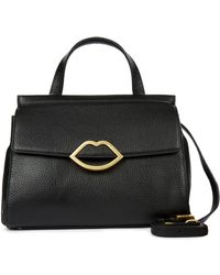 Lulu Guinness - Black Grainy Leather Small Gertie - Lyst