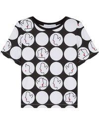 Lulu Guinness - Kissing Lips Dot Tara T-shirt - Lyst