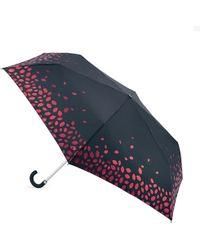 Lulu Guinness - Glitter Scattered Lips Superslim Umbrella - Lyst
