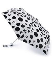 Lulu Guinness - Polka Doll Face Superslim Umbrella - Lyst