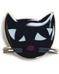 Lulu Guinness - Kooky Cat Brooch - Lyst