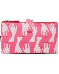 Lulu Guinness | Peony Hug Print Double Make Up Bag | Lyst