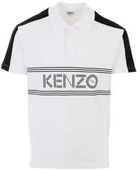 64676a00 Lyst - KENZO Black Tiger Embroidered Long Sleeve Polo Shirt in Black ...