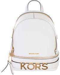 f29eecae2c0aa Lyst - Michael Kors White Bristol Backpack in White