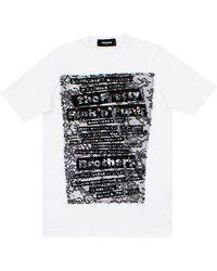 DSquared² - T-shirt Bianca - Lyst