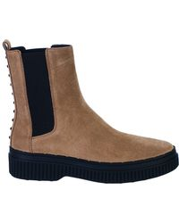 Tod's - Brown Beatles Boots - Lyst