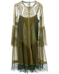 Alberta Ferretti - Military Dress - Lyst