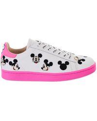 be027f269ab Lyst - Vans  Classic - Disney Belle  Slip-On Sneaker in White