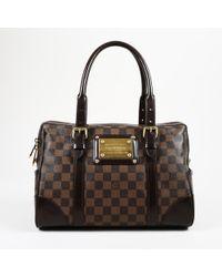 "Louis Vuitton - Brown ""damier Ebene"" Coated Canvas ""berkeley"" Bag - Lyst"